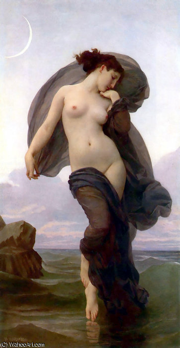 Le crepuscule de William Adolphe Bouguereau (1825-1905, France)