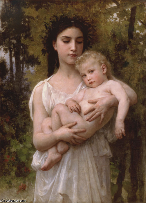 peu frère de William Adolphe Bouguereau (1825-1905, France)