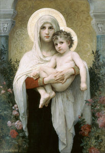 William Adolphe Bouguereau - Madone de  la  roses
