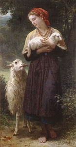 William Adolphe Bouguereau - le nouveau-né agneau