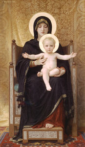 William Adolphe Bouguereau - le assis madonna