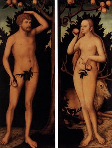 Lucas Cranach The Younger - eve et adam
