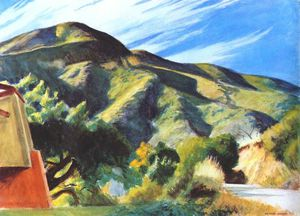Edward Hopper - Californie montagnes