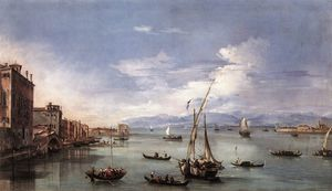 Francesco Lazzaro Guardi - La lagune de Fondamenta Nuove