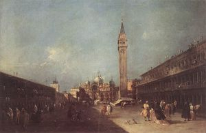 Francesco Lazzaro Guardi - Piazza San Marco