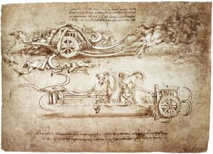 Leonardo Da Vinci - engineering-Assault char de faux