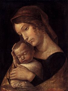 Andrea Mantegna - until1470 -  Madone  avec  Endormi  enfant