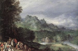 Jan Brueghel The Elder - une flamande bazar détail
