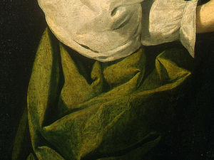 Francisco Zurbaran - sainte lucie , detlalj 5 , c . ng washington