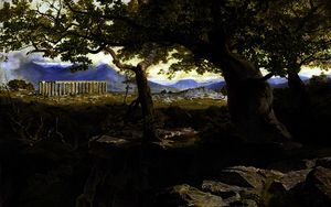 Edward Lear - le temple d-apollon au Bassae