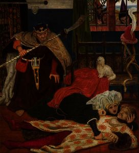 Ford Madox Brown - la mort de Monsieur Tristram