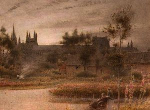 Albert Goodwin - Peterborough cathédrale