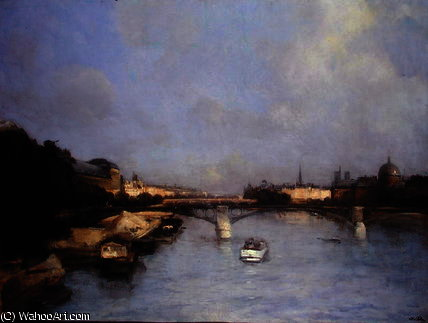 la seine de Antoine Vollon (1833-1900, France)