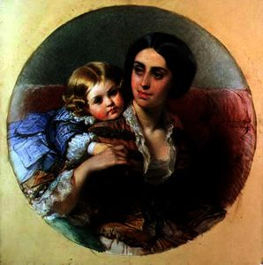 Edouard Louis Dubufe - Tendresse maternelle