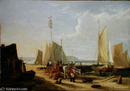 a port Scène en l île de wight de George Vincent (1796-1831, United Kingdom)
