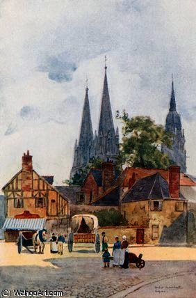 Une rue coin , bayeux de Herbert Menzies Marshall (1841-1913, United Kingdom)