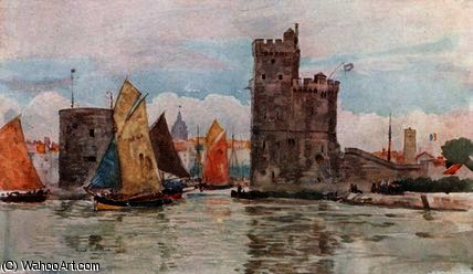 entrée du port , La Rochelle de Herbert Menzies Marshall (1841-1913, United Kingdom)