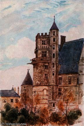 la maison de jacques coeur , De bourges de Herbert Menzies Marshall (1841-1913, United Kingdom)