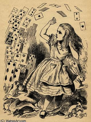 ALICE et le Paquet de Cartes de John Tenniel (1820-1914, United Kingdom)