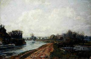John William Buxton Knight - Canal , rickmansworth