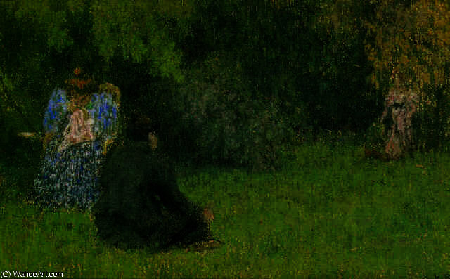 Dames au jardin et de ker xavier roussel 1867 1944 france for Jardin xavier