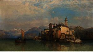 George Edwards Hering - Isola guilo san , lac d orta
