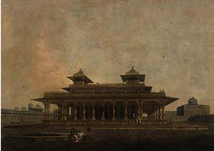 Thomas And William Daniell - Une partie de l palais le fort de allahabad