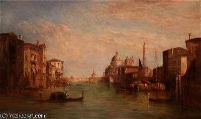 Canal grande , venise de Alfred Pollentine (1836-1890, United Kingdom) | Reproductions D'art Alfred Pollentine | WahooArt.com