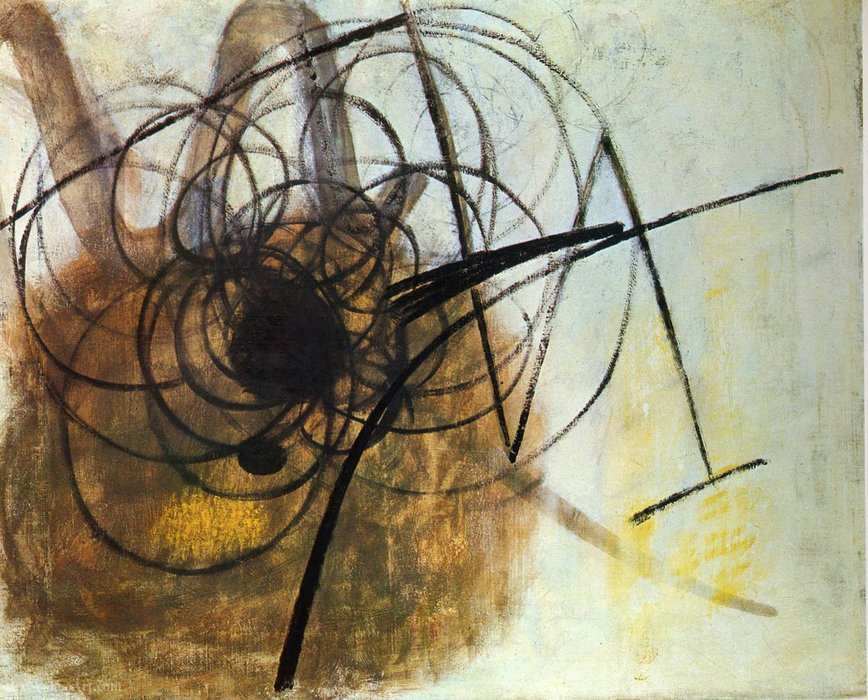 Untitled (914) de Hans Heinrich Hartung (1904-1989, Germany) | Reproductions D'art Sur Toile | WahooArt.com