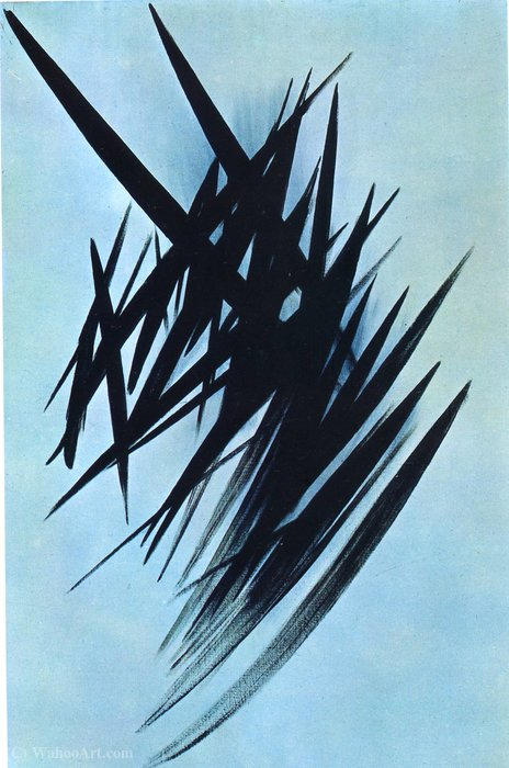 Untitled (433) de Hans Heinrich Hartung (1904-1989, Germany) | Reproductions De Qualité Musée | WahooArt.com
