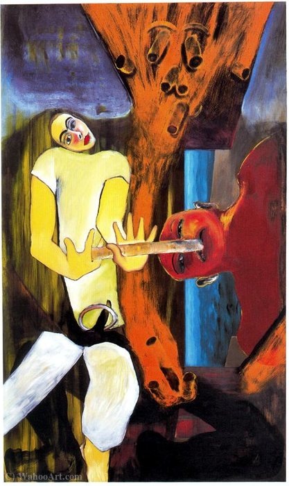 Untitled (635) de Francesco Clemente | Reproductions De Qualité Musée | WahooArt.com