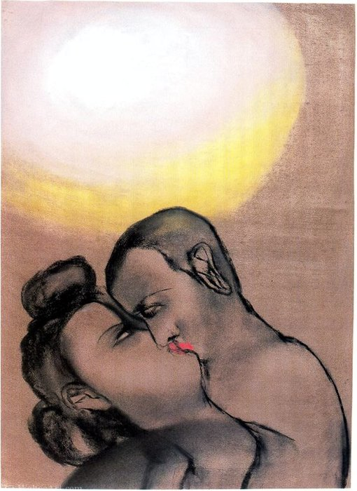 Untitled (731) de Francesco Clemente | Copie Tableau | WahooArt.com