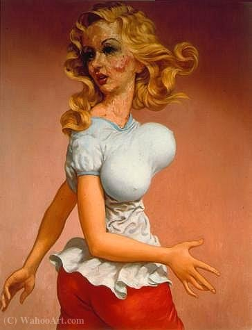Achat Copie Tableau : Untitled (435) de John Currin | WahooArt.com
