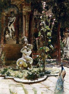 William Logsdail - Le jardin de la malipiero palazzo
