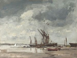 Edward Seago - Thames Barges au Pin Mill