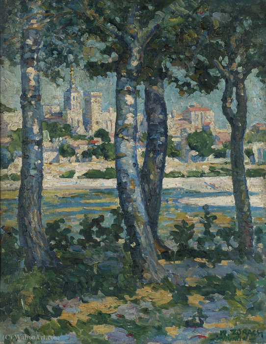 Le long du Rhône, Avignon, (1910) de William Zorach (1887-1966, Russia) | Reproduction Peinture | WahooArt.com