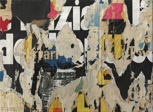 Mimmo Rotella - Untitled (118)