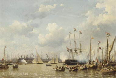 Shipping On The Ij, Amsterdam - Everhardus Koster
