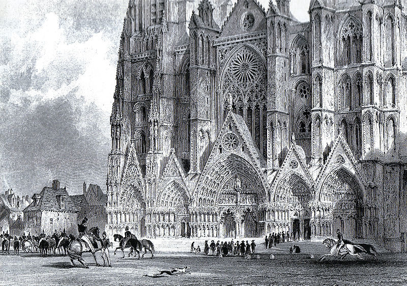 La cathédrale de Bourges de Thomas Allom (1804-1872, United Kingdom)