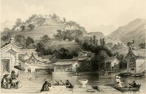 Thomas Allom - Colombie Campement sur Irgao-Shan