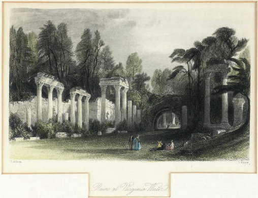Ruines à l eau virginie de Thomas Allom (1804-1872, United Kingdom)