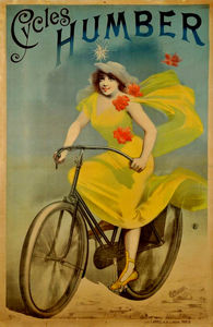 Alfred Choubrac - Affiche publicitaire de cycles Humbert