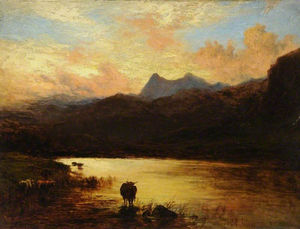 Alfred Walter Williams - Paysage, piques Langdale, Cumbria