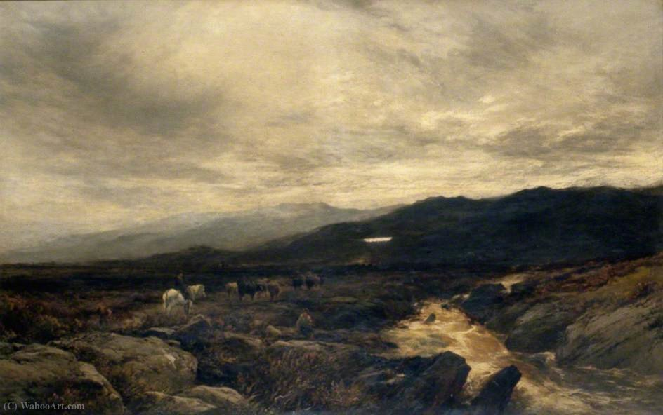 Sur les Fells Cumberland de Alfred Walter Williams (1824-1905, United Kingdom)