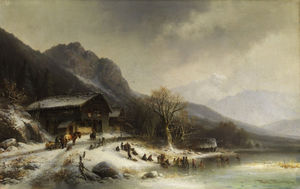 Anton Doll - Paysage d hiver