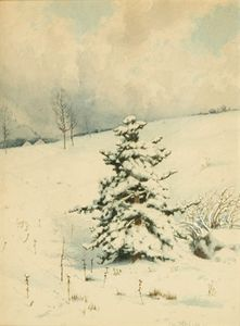 Charles Harry Eaton - NY, colline en hiver