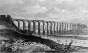 George Hawkins - Royale Border Pont sur la Tweed à Berwick