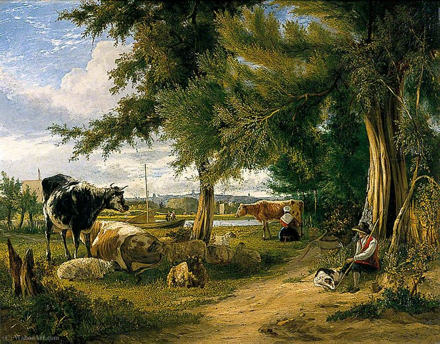 Scène pastorale de George Vincent (1796-1831, United Kingdom)