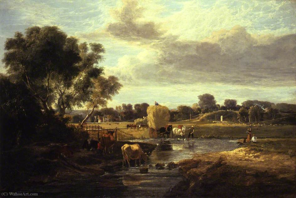 Trowse Meadows, près de Norwich de George Vincent (1796-1831, United Kingdom)