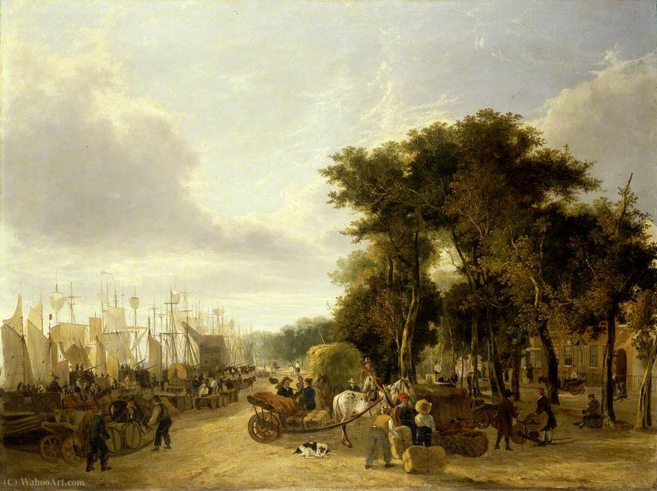 Yarmouth quai, Norfolk de George Vincent (1796-1831, United Kingdom)